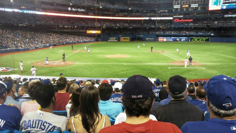 Seating view for Rogers Centre Section 118R Row 23 Seat 9