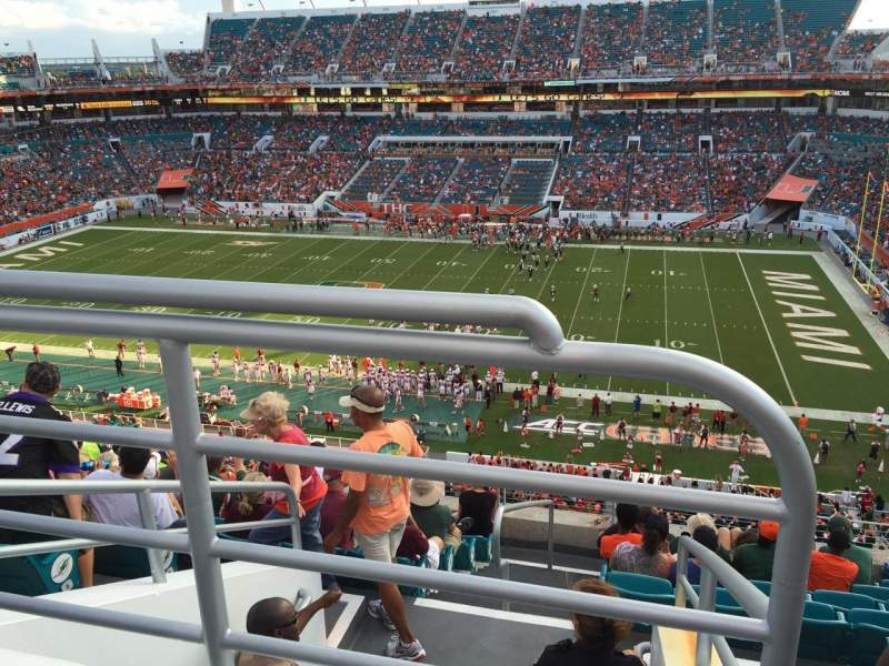 Seating view for Hard Rock Stadium Section 315 Row 10 Seat 24