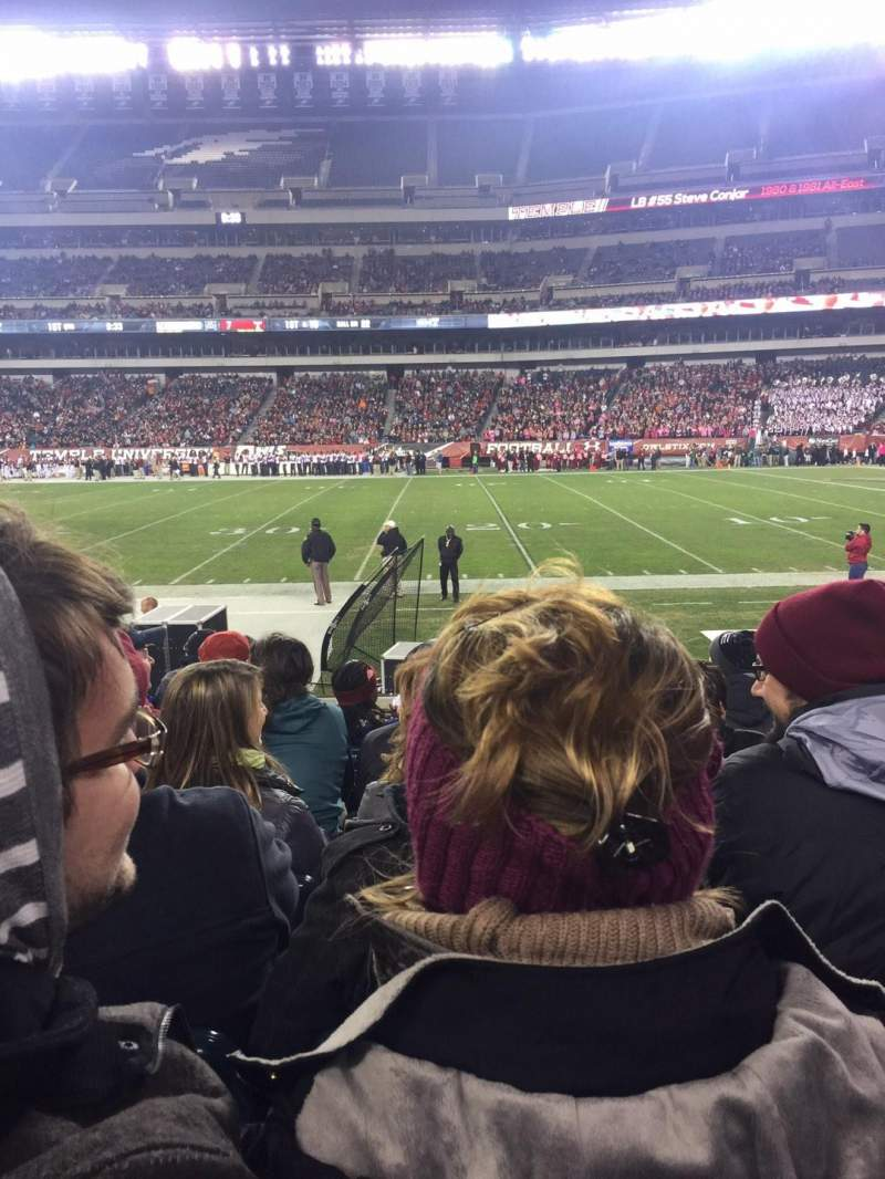 Seating view for Lincoln Financial Field Section 103 Row 8 Seat 8