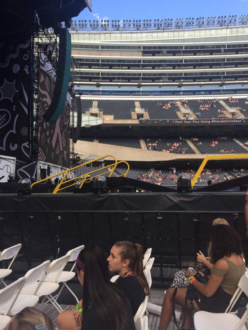 Seating view for Soldier Field Section A4 Row 5 Seat 9
