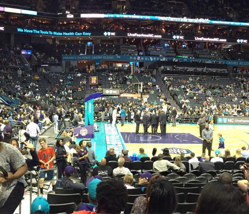 Seating view for Spectrum Center Section 115 Row J Seat 17