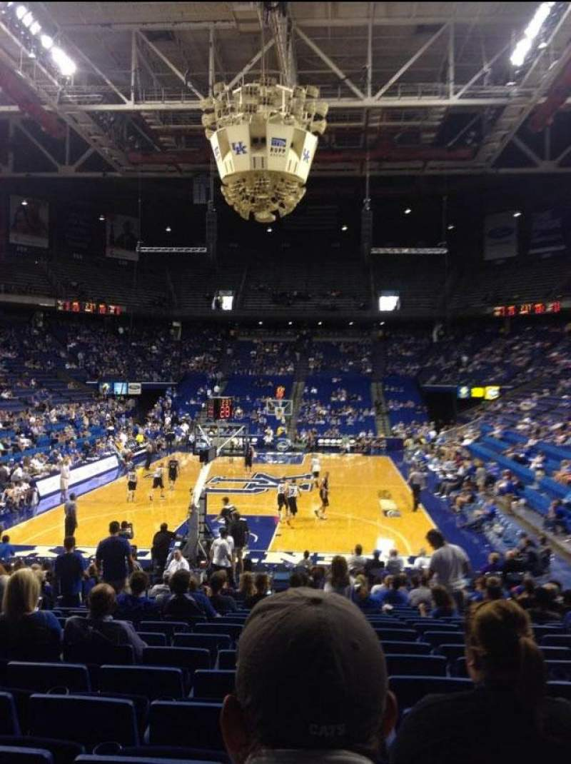 Seating view for Rupp Arena Section 22 Row VV Seat 6