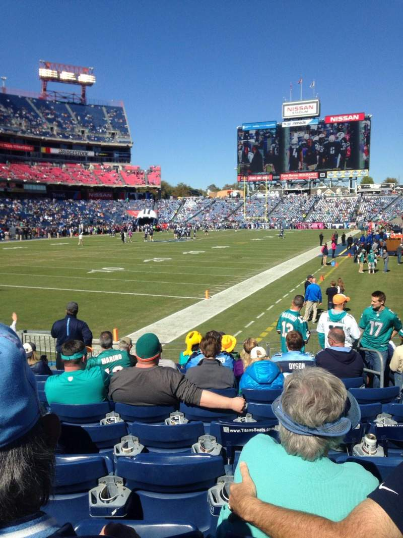 Seating view for Nissan Stadium Section 120 Row L Seat 5