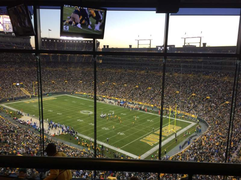 Seating view for Lambeau Field Section 692 Row 5 Seat 31