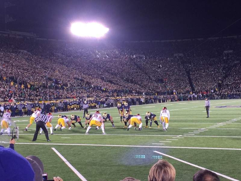 Seating view for Notre Dame Stadium Section Fl18 Row F Seat 1