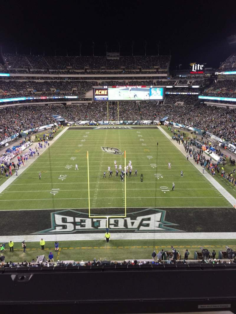 Seating view for Lincoln Financial Field Section 235 Row 1 Seat 1