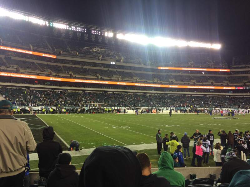 Seating view for Lincoln Financial Field Section 135 Row 6 Seat 21