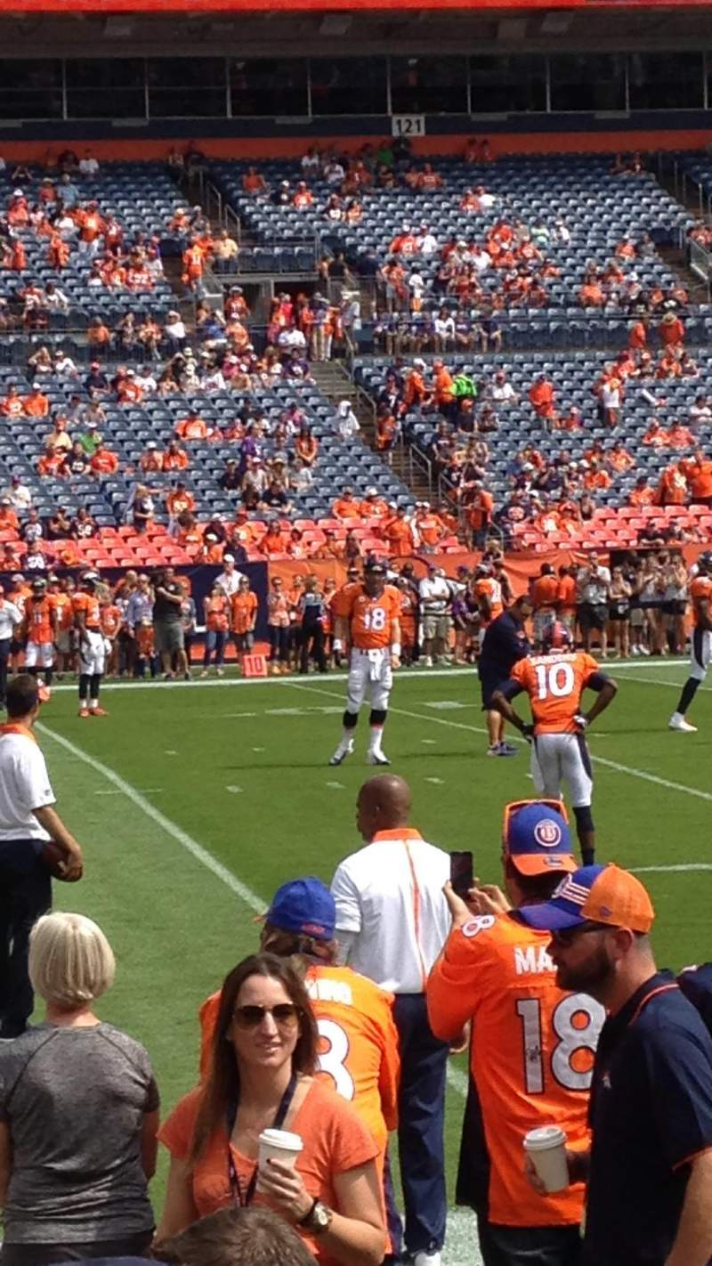 Seating view for Sports Authority Field at Mile High Section 109 Row 3 Seat 2