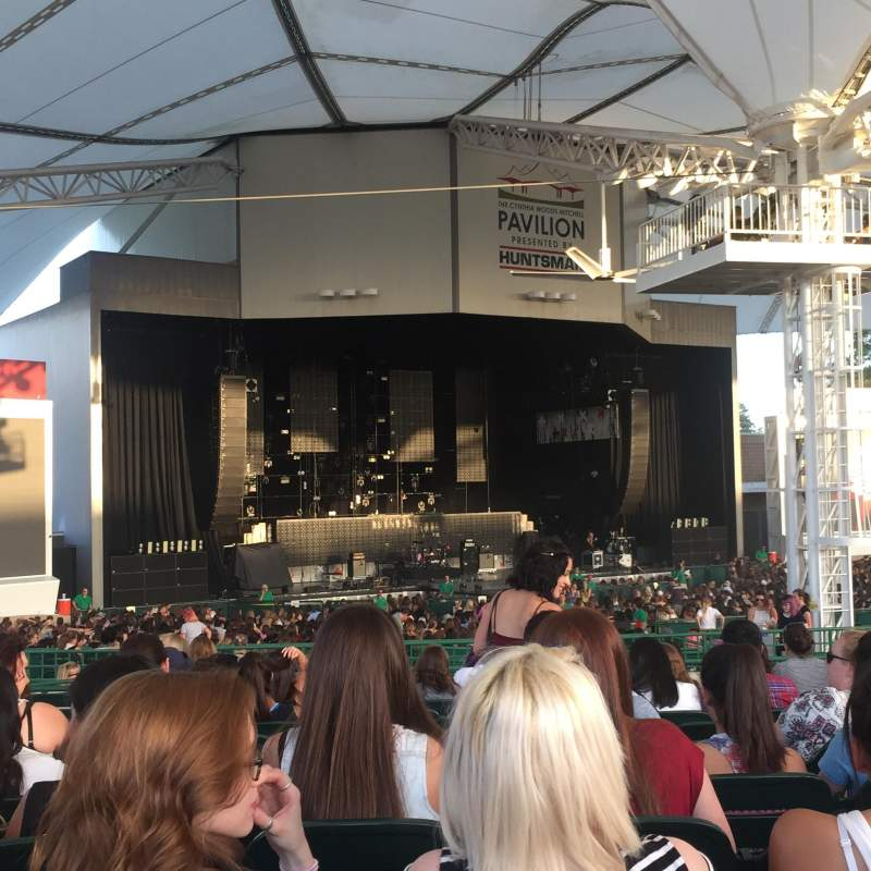 Seating view for Cynthia Woods Mitchell Pavilion Section 106 Row L Seat 16