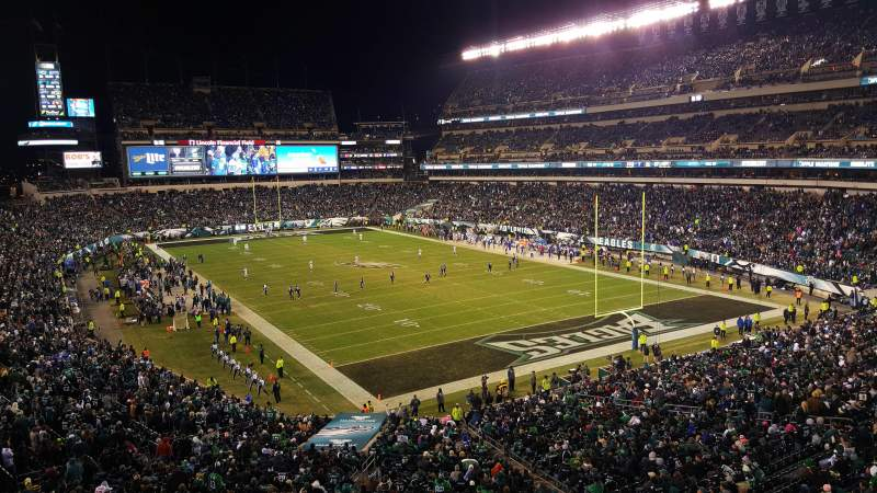 Seating view for Lincoln Financial Field Section Southwest Terrance Row 1 Seat 12