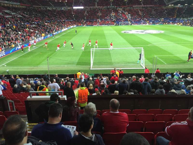 Seating view for Old Trafford Section W203 Row 9 Seat 30
