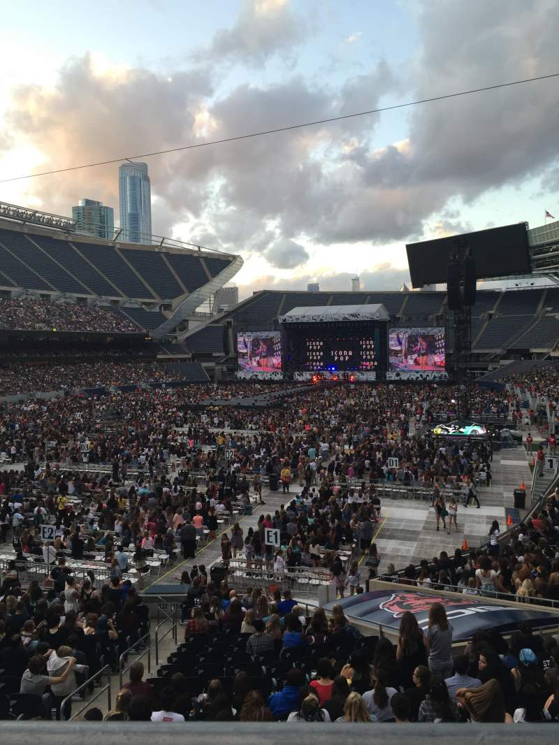 Seating view for Soldier Field Section 219 Row 1 Seat 9