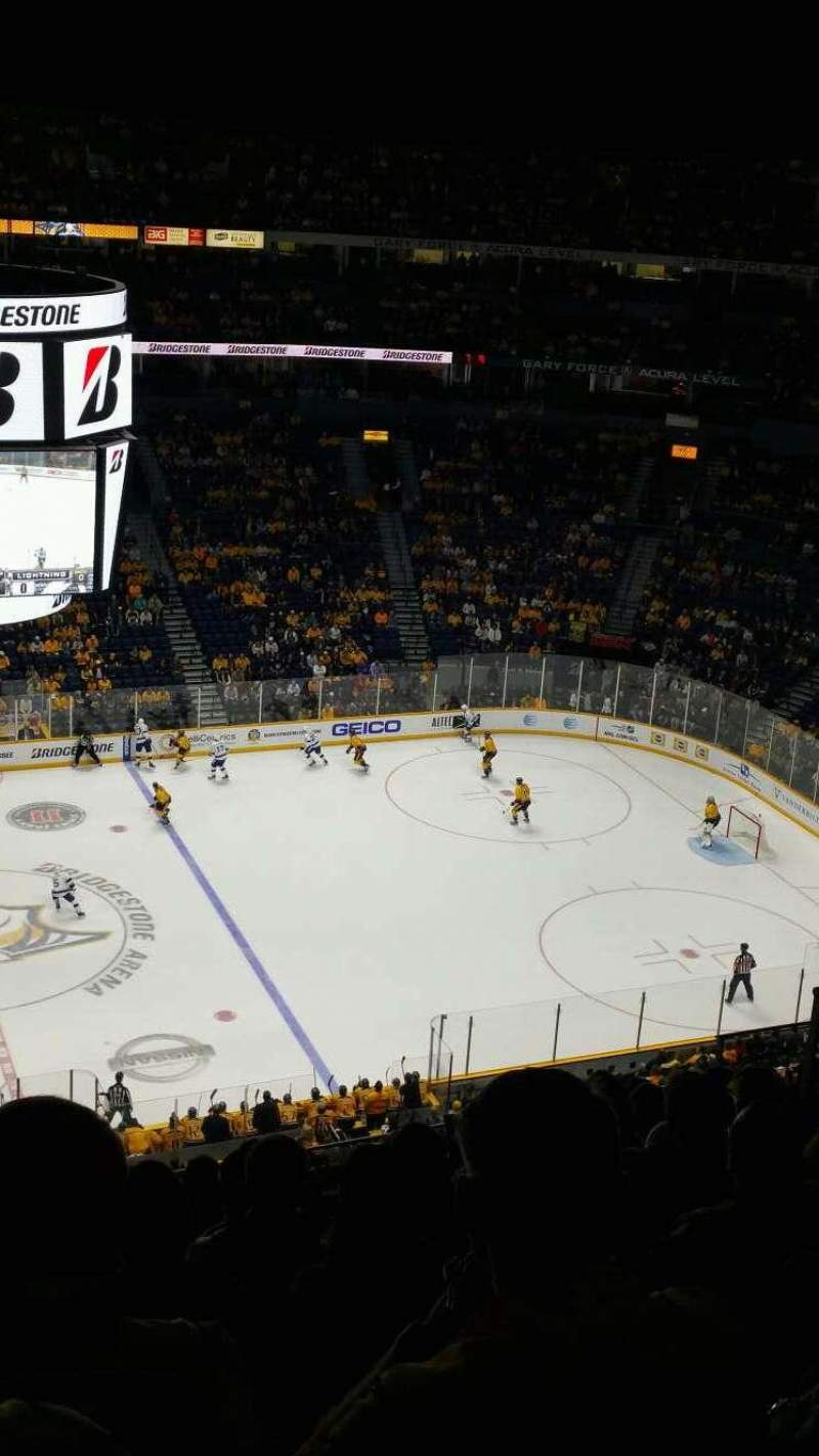 Seating view for Bridgestone Arena Section 325 Row K Seat 15