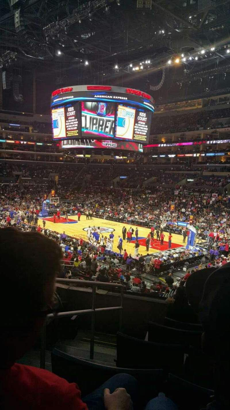 Seating view for Staples Center Section PR1 Row 6 Seat 12