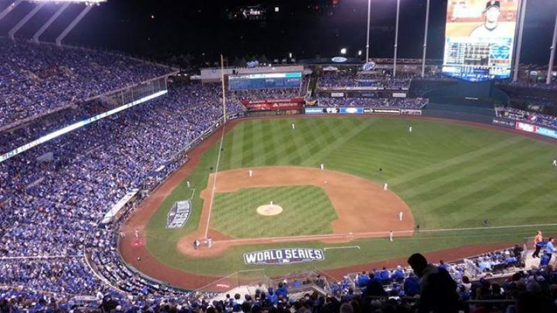 Seating view for Kauffman Stadium Section 427 Row YY Seat 22