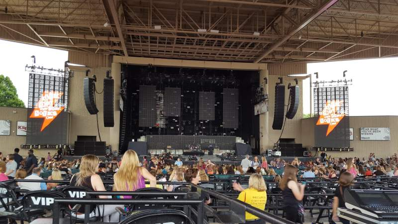 Seating view for Klipsch Music Center Section F Row E Seat 7