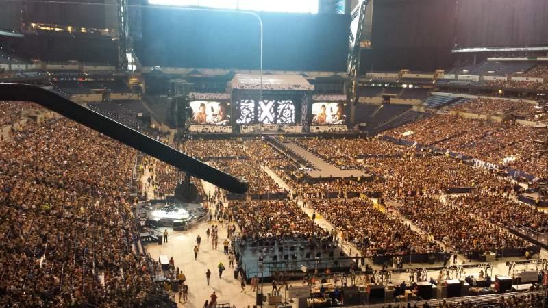 Lucas Oil Stadium, section: 430, row: 2, seat: 1