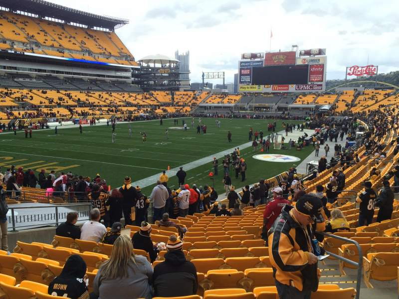 Seating view for Heinz Field Section 127 Row M Seat 3-4