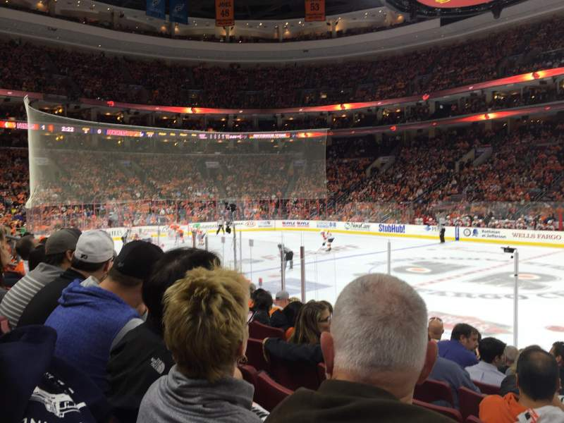 Seating view for Wells Fargo Center Section 114 Row 10 Seat 13