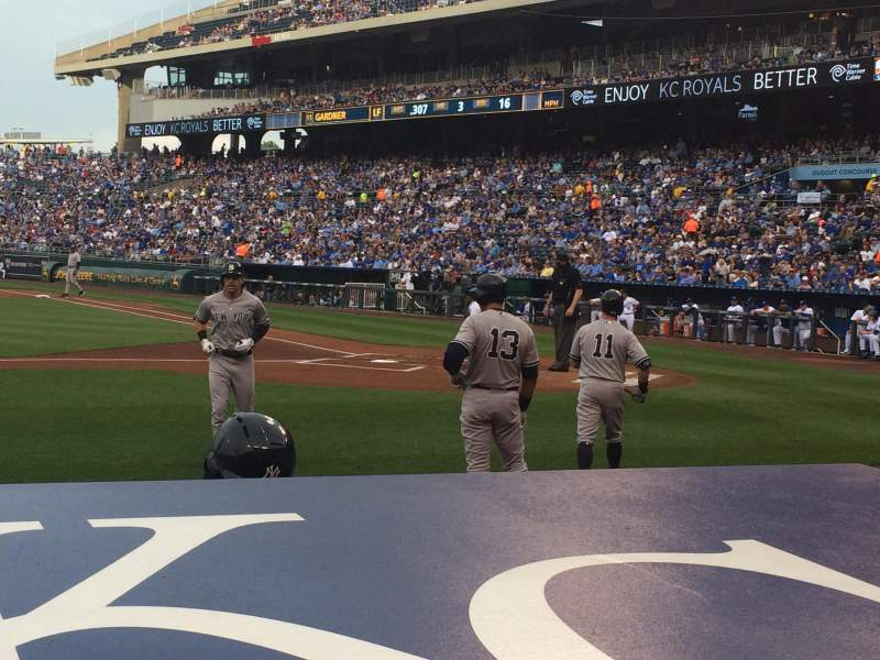 Seating view for Kauffman Stadium Section 122 Row A Seat 3