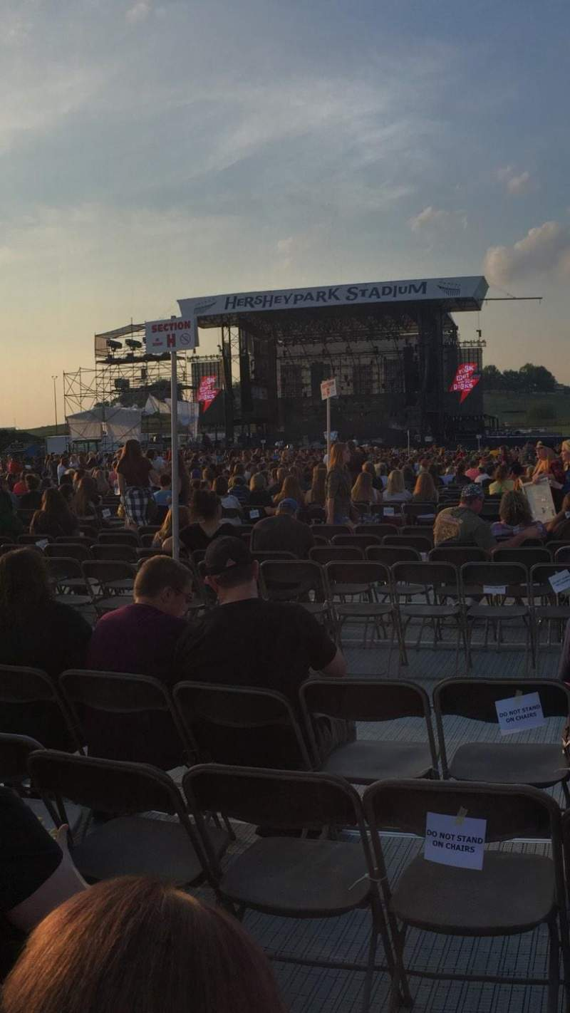 Seating view for Hershey Park Stadium Section K