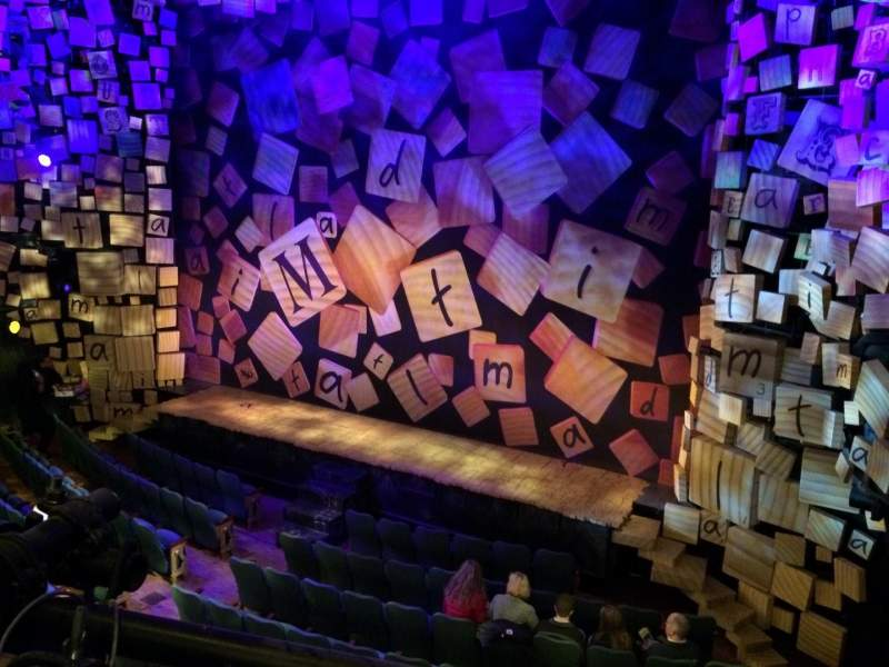 Seating view for Shubert theatre Section Mezzanine Row A Seat 20