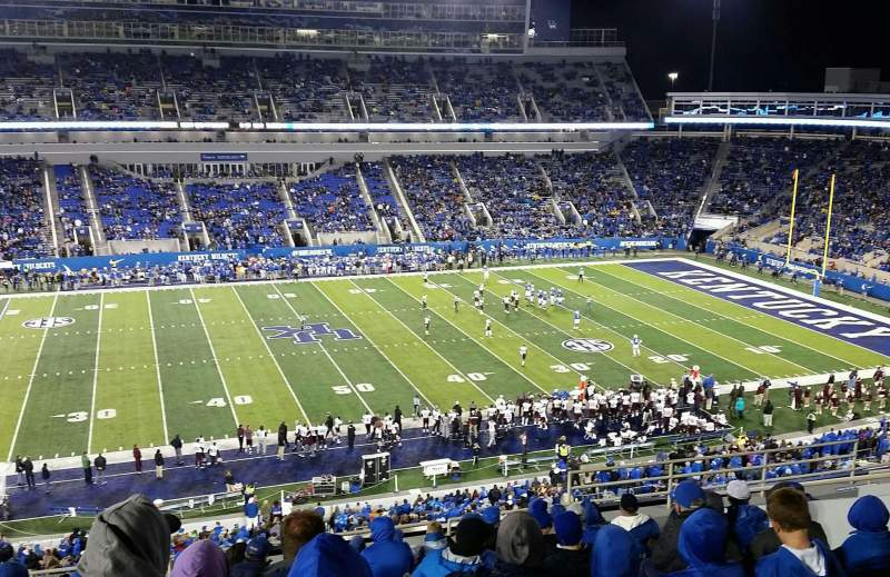 Seating view for Commonwealth Stadium Section 205 Row 13 Seat 18