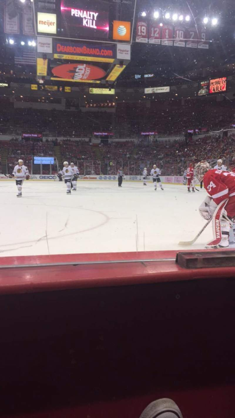 Seating view for Joe Louis Arena Section 101 Row 1 Seat 7