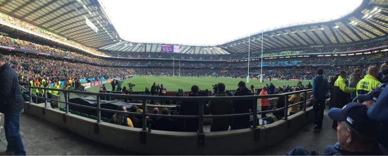 Seating view for Twickenham Stadium Section L17 Row 7 Seat 214
