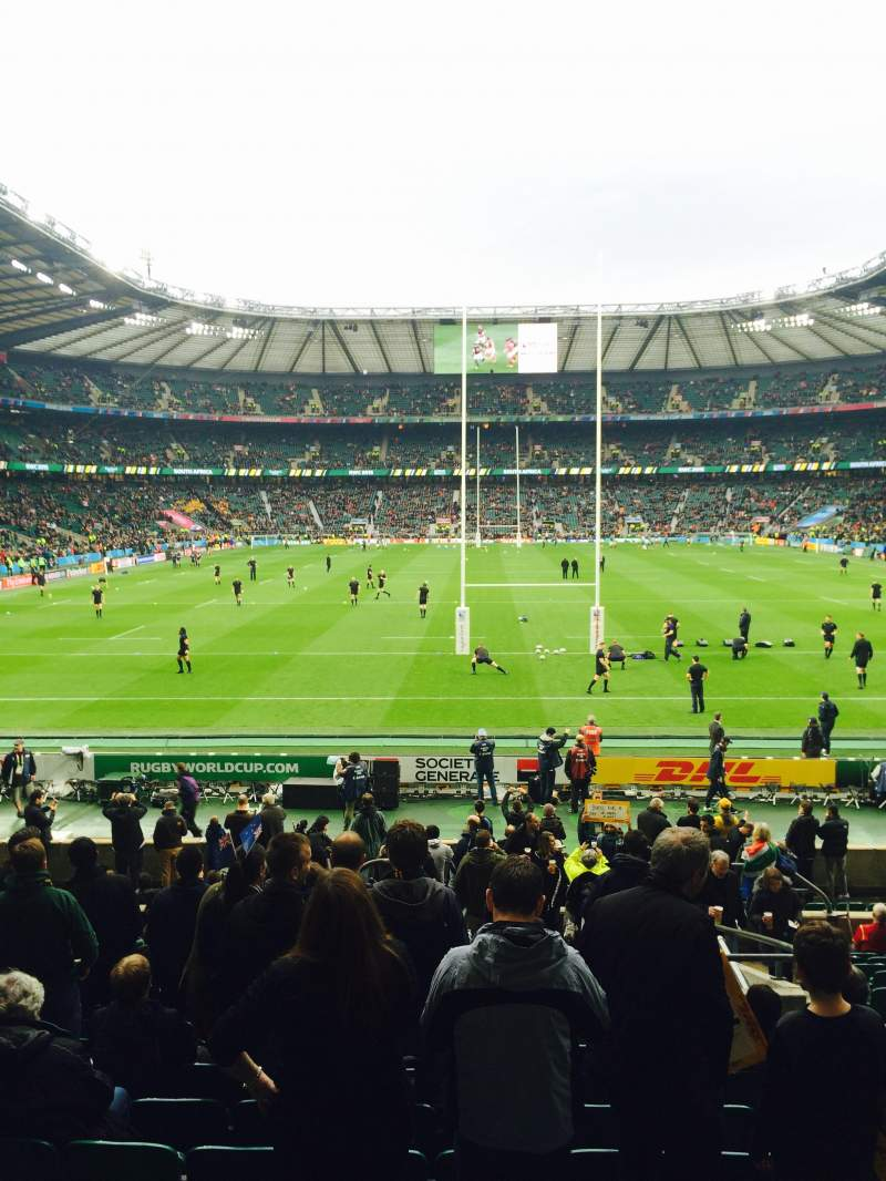 Seating view for Twickenham Stadium Section L15 Row 23 Seat 136
