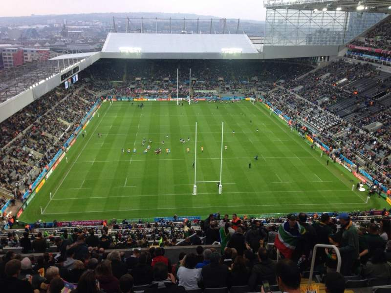 Seating view for St James' Park Section L7L Row T Seat 513