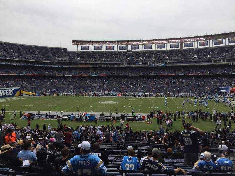 Seating view for Qualcomm Stadium Section P7 Row 14 Seat 13