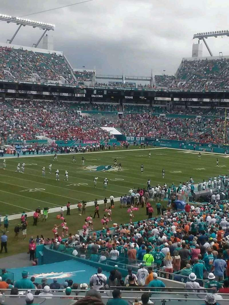 Seating view for Hard Rock Stadium Section 253 Row 8 Seat 1