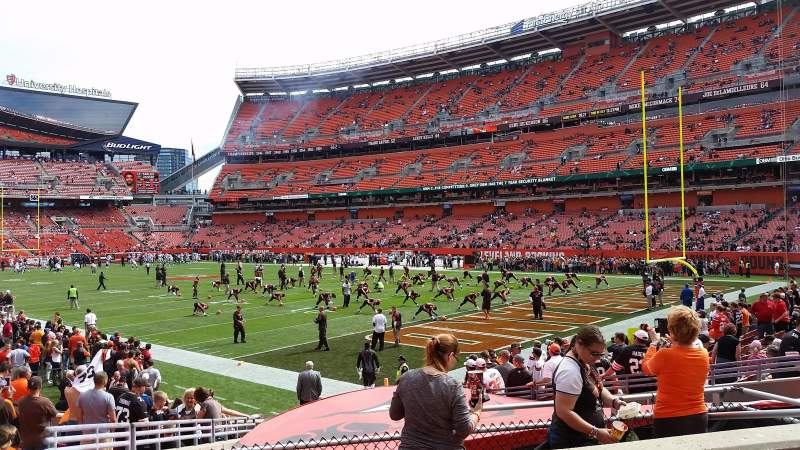 Seating view for FirstEnergy Stadium Section 141