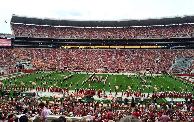 Seating view for Bryant-Denny Stadium Section F Row 53