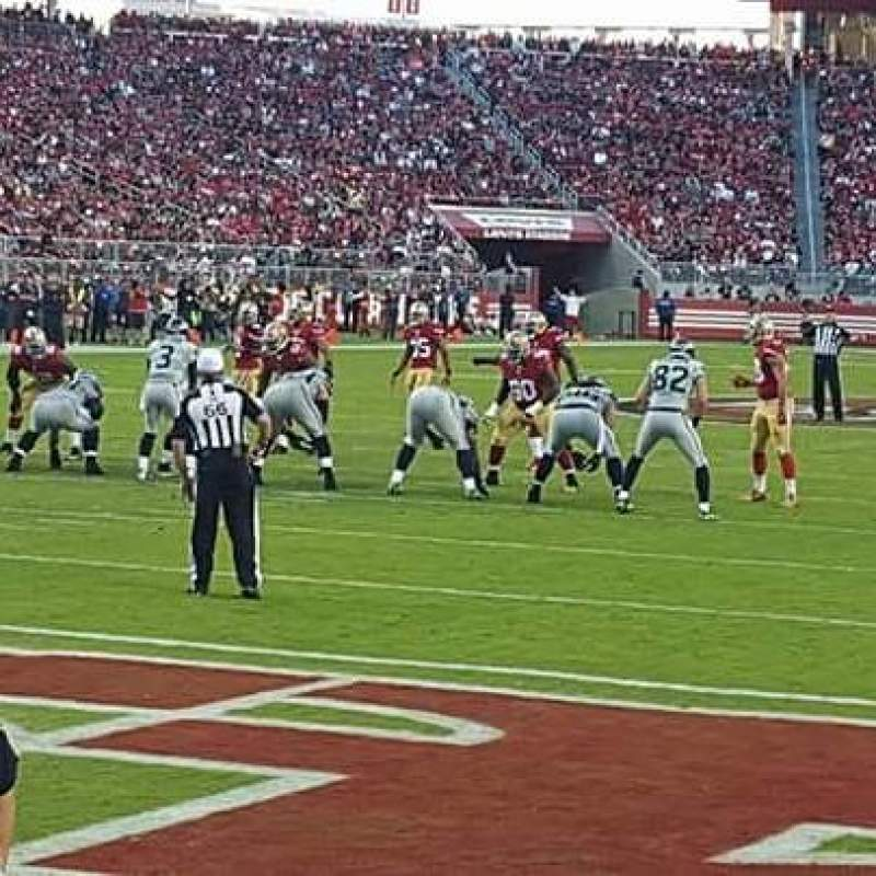 Seating view for Levi's Stadium Section 125 Row 1 Seat 26