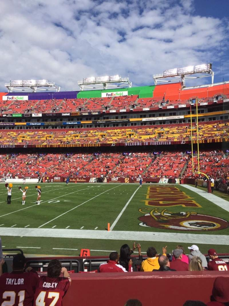 FedEx Field, section: 138, row: 6, seat: 18