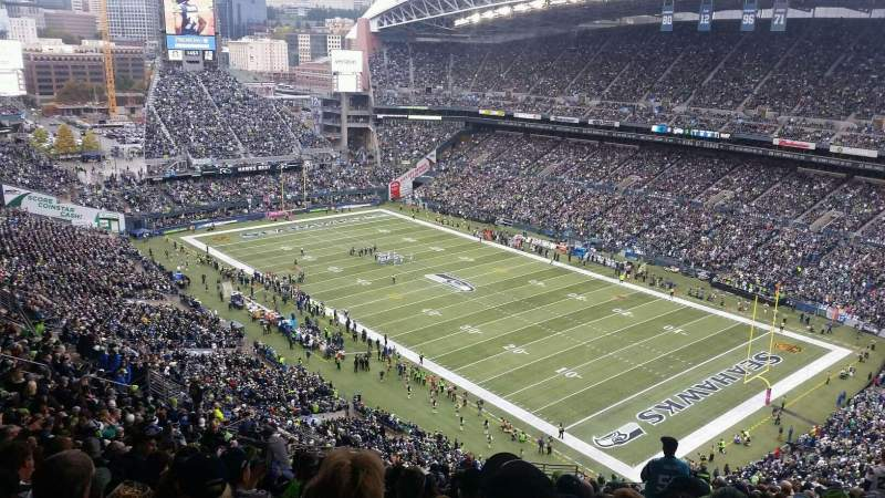 Seating view for CenturyLink Field Section 228 Row MM Seat 19