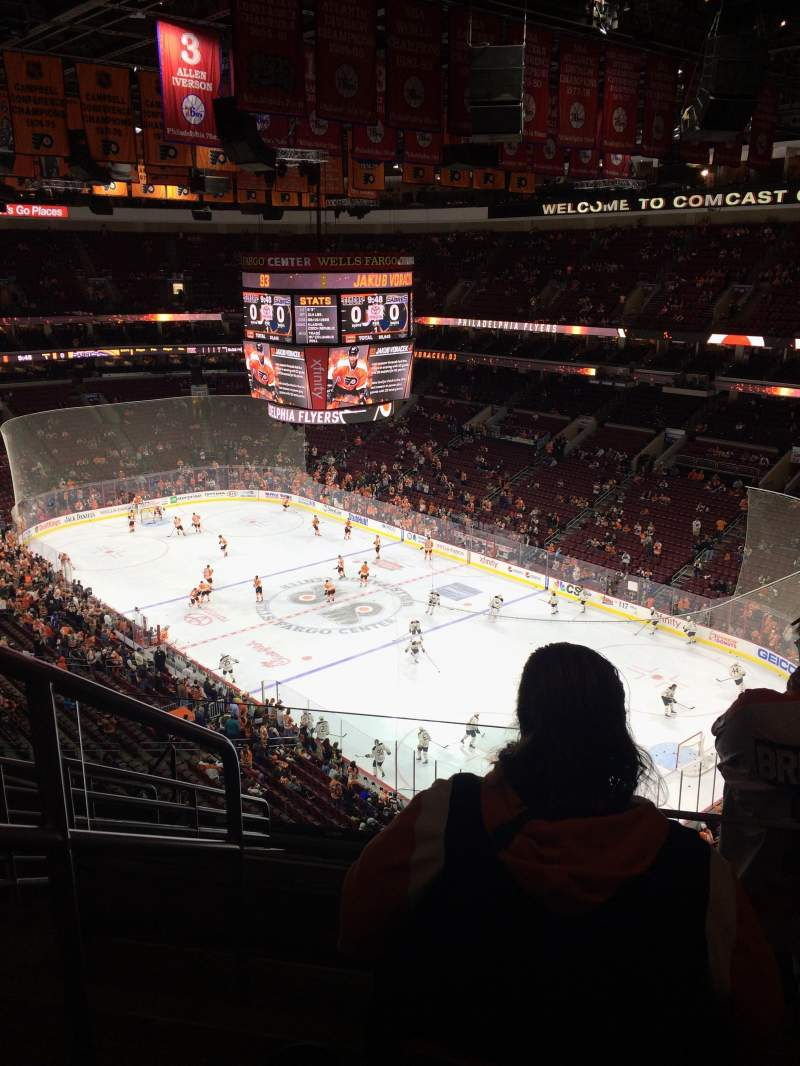 Seating view for Wells Fargo Center Section 205 Row 10 Seat 1