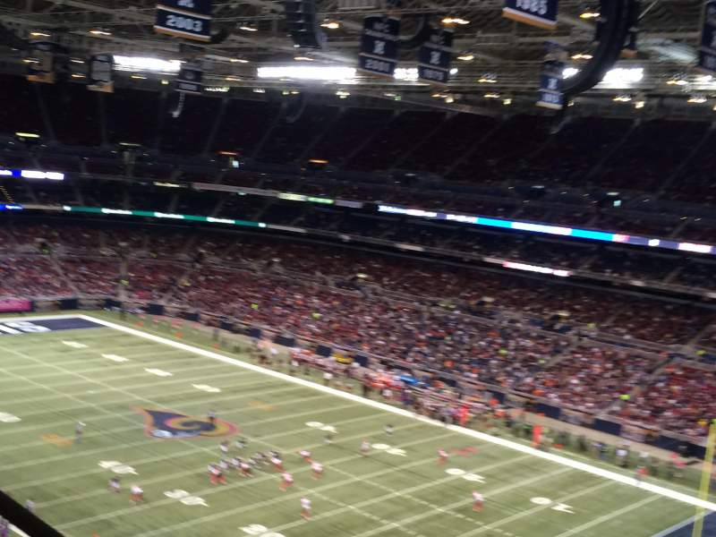 The Dome at America's Center, section: 407, row: BB, seat: 1