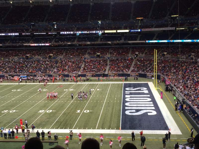 Seating view for The Dome at America's Center Section 310 Row f Seat 12