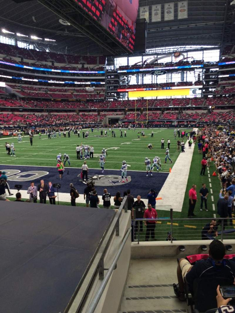 Seating view for AT&T Stadium Section 121 Row 10 Seat 5