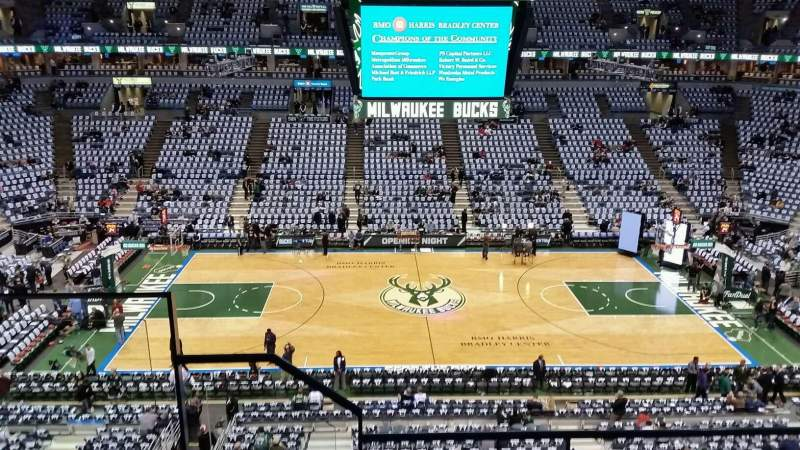 Seating view for BMO Harris Bradley Center Section 422 Row D Seat 13
