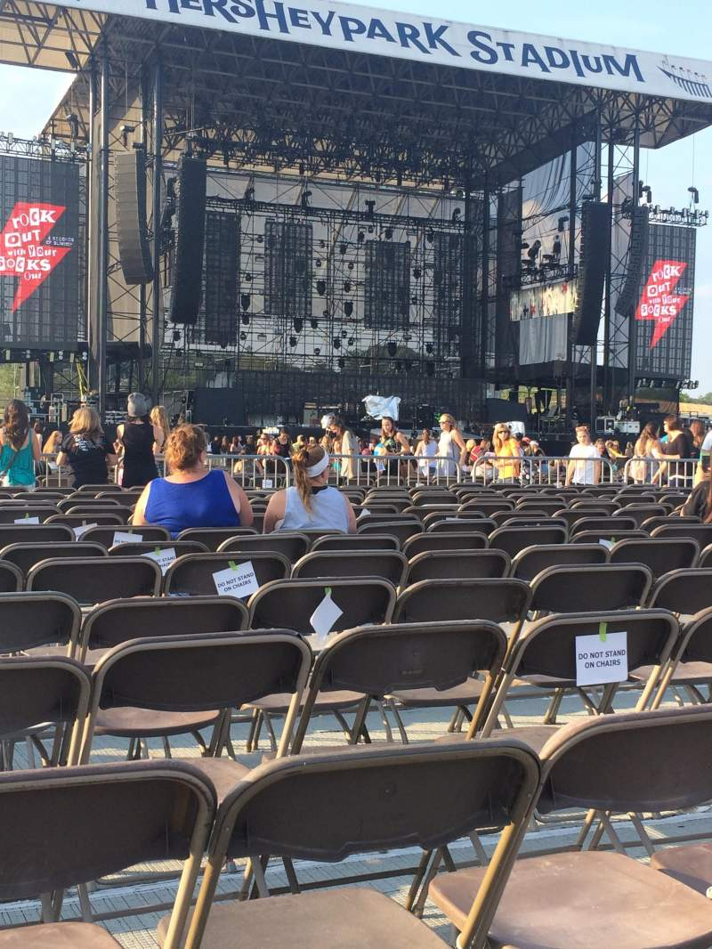 Seating view for Hershey Park Stadium Section E