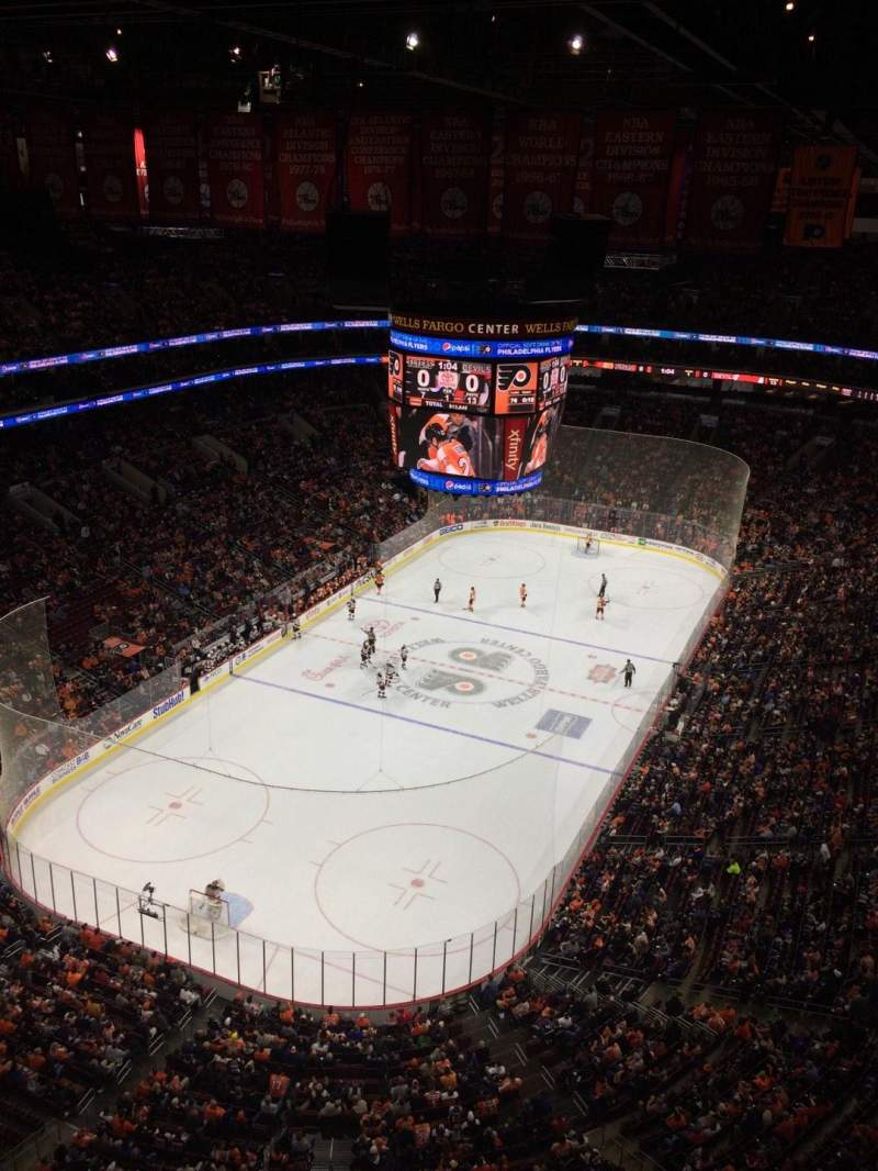 Seating view for Wells Fargo Center Section Balcony Suite 1 Row 1 Seat 5
