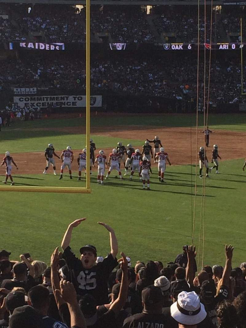 Seating view for Oakland Alameda Coliseum Section 105 Row 27 Seat 7