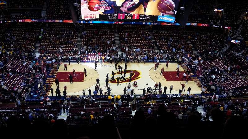 Seating view for Quicken loans arena Section 225 Row 6 Seat 6