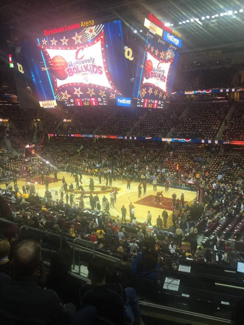 Seating view for Quicken Loans Arena Section 128 Row 28 Seat 9