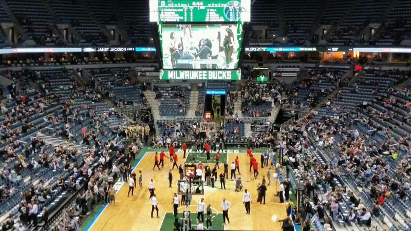 Seating view for BMO Harris Bradley Center Section 411 Row c Seat 1