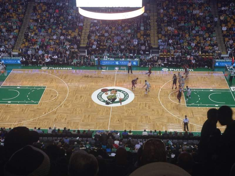Seating view for TD Garden Section Bal 316 Row 13 Seat 4